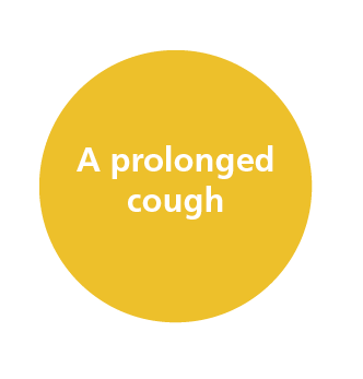 Image says A prolonged cough