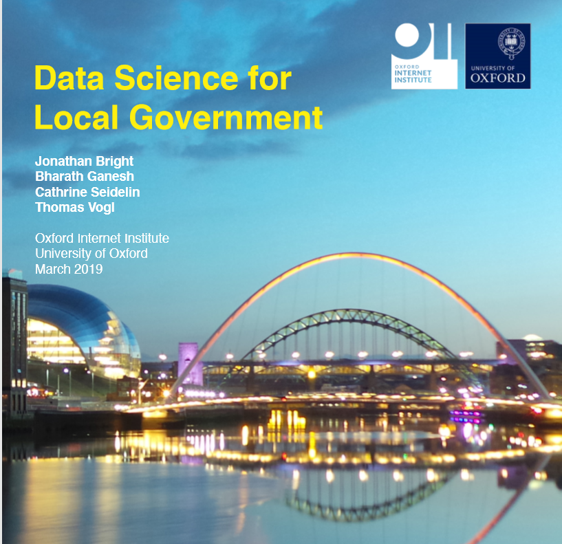 Report cover: 2019 data science for local government