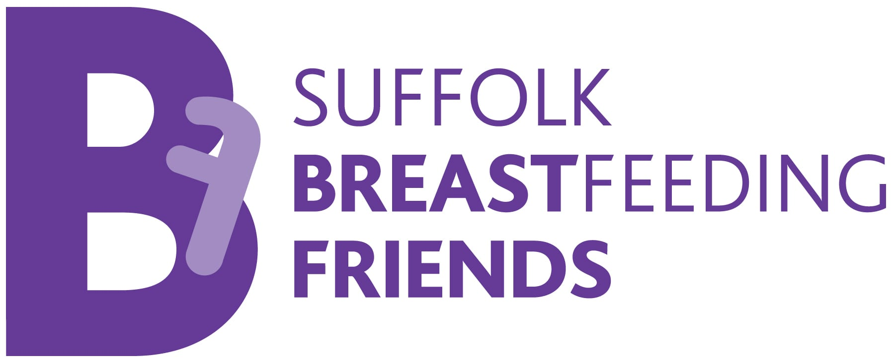 Suffolk Breastfeeding Friends logo purple