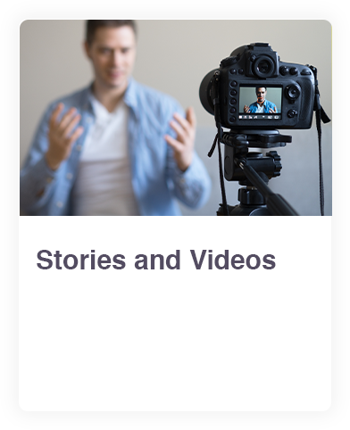 Stories and videos web link